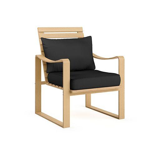 LCQ-807-C Aquios Bentwood Armchair in Midnight Black