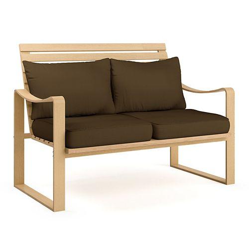 LCQ-897-S Aquios Bentwood Sofa in Dark Coffee