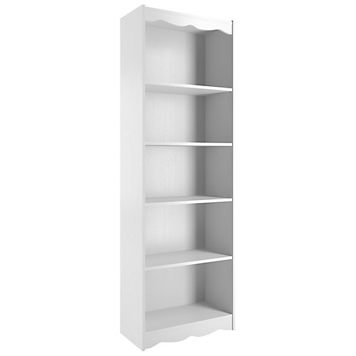 24-inch x 72-inch x 12-inch Metal Cubed Bookcase in White