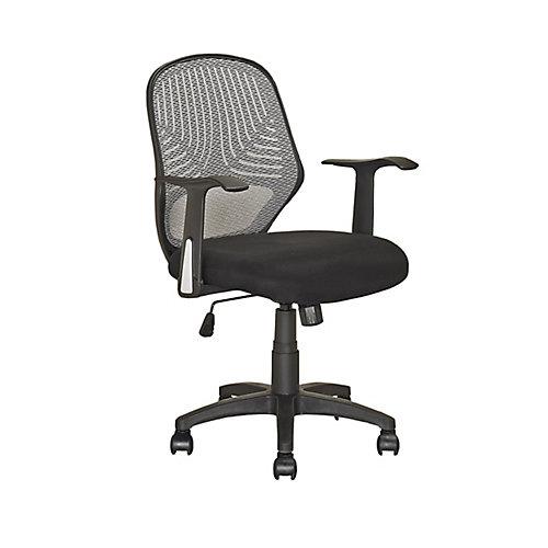 LOF-209-O Chaise de bureau Noir