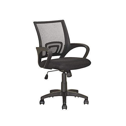 LOF-309-O Chaise de bureau Noir