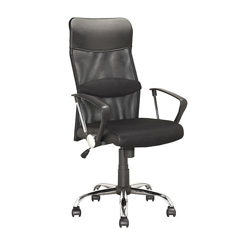Corliving LOF-908-O Executive Office Chair in Black Leatherette and Mesh