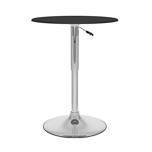 T-402-VPD Adjustable Bar Table in Black Leatherette