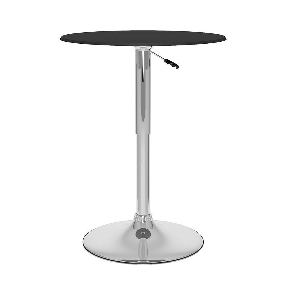 Corliving T-402-VPD Adjustable Bar Table in Black Leatherette