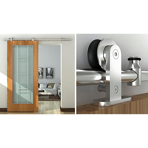 Industrial Style Visible Rail System For Decorative Barn Doors