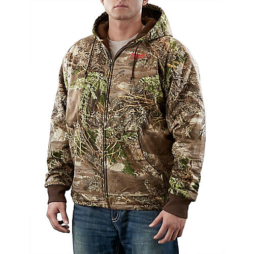 Chandail à capuchon chauffant sans fil style camouflage Realtree Max-1 M12 - chandail seulement - 2TG