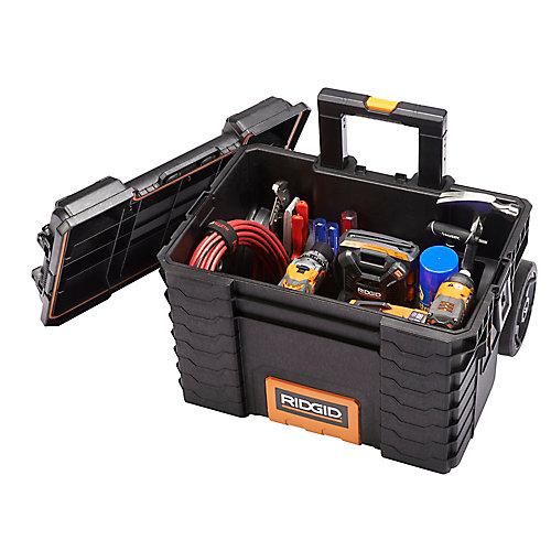 Coffre à outils mobile professionnel à roulettes, 22po, noir