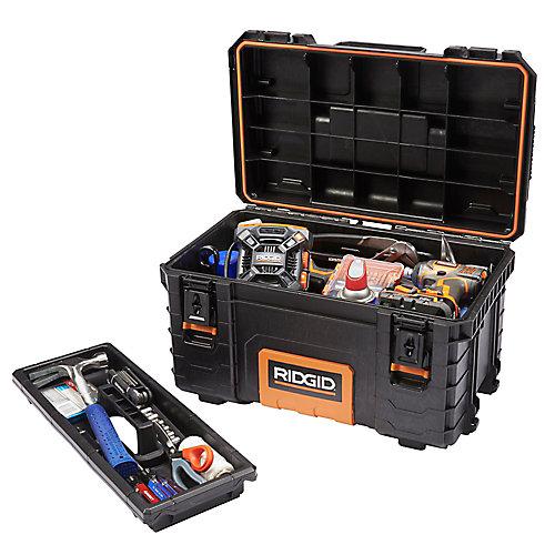Boîte à outils professionnelle, 22po, noir