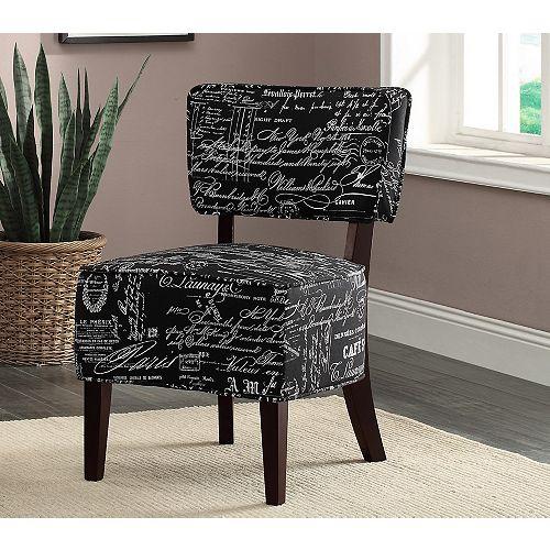 Alicia Accent Chair Black