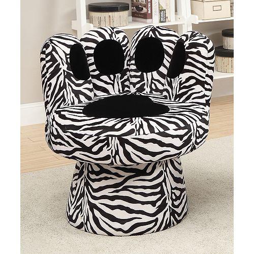 Pawz Accent Chair Zebra