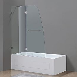 48 po x 58 po porte de baignoire/douche de Pivot sans cadre en Acier Inoxydable