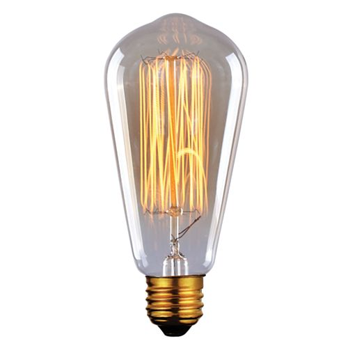 60W Vintage Filament Tapered Bulb
