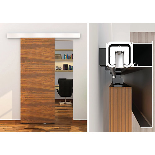 Contemporary Style Concealed Rail System For Decorative Barn Doors