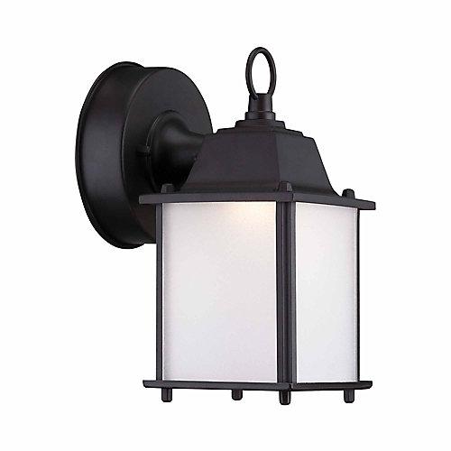 Satin Bronze Outdoor LED Wall Lantern Sconce