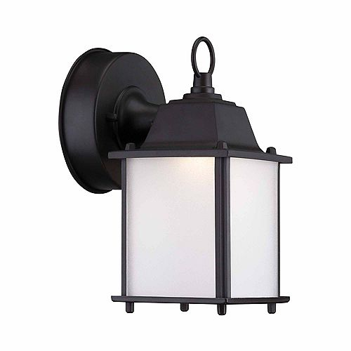 Satin Bronze Outdoor LED Wall Lantern Sconce