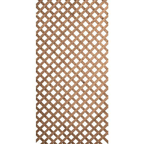 4x8 Regular Lattice Brown