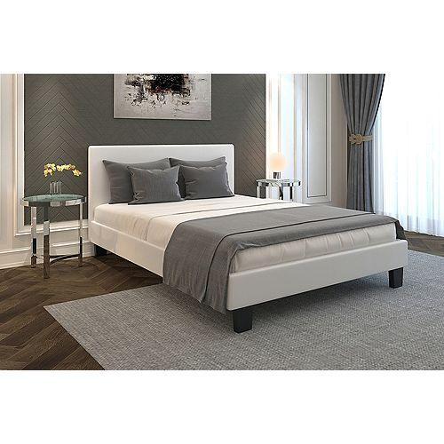 Volt Queen Platform Bed - White