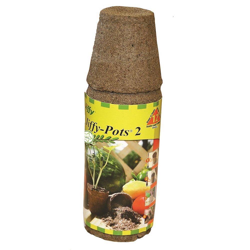 Jiffy Round Peat Pots, 12 Pack
