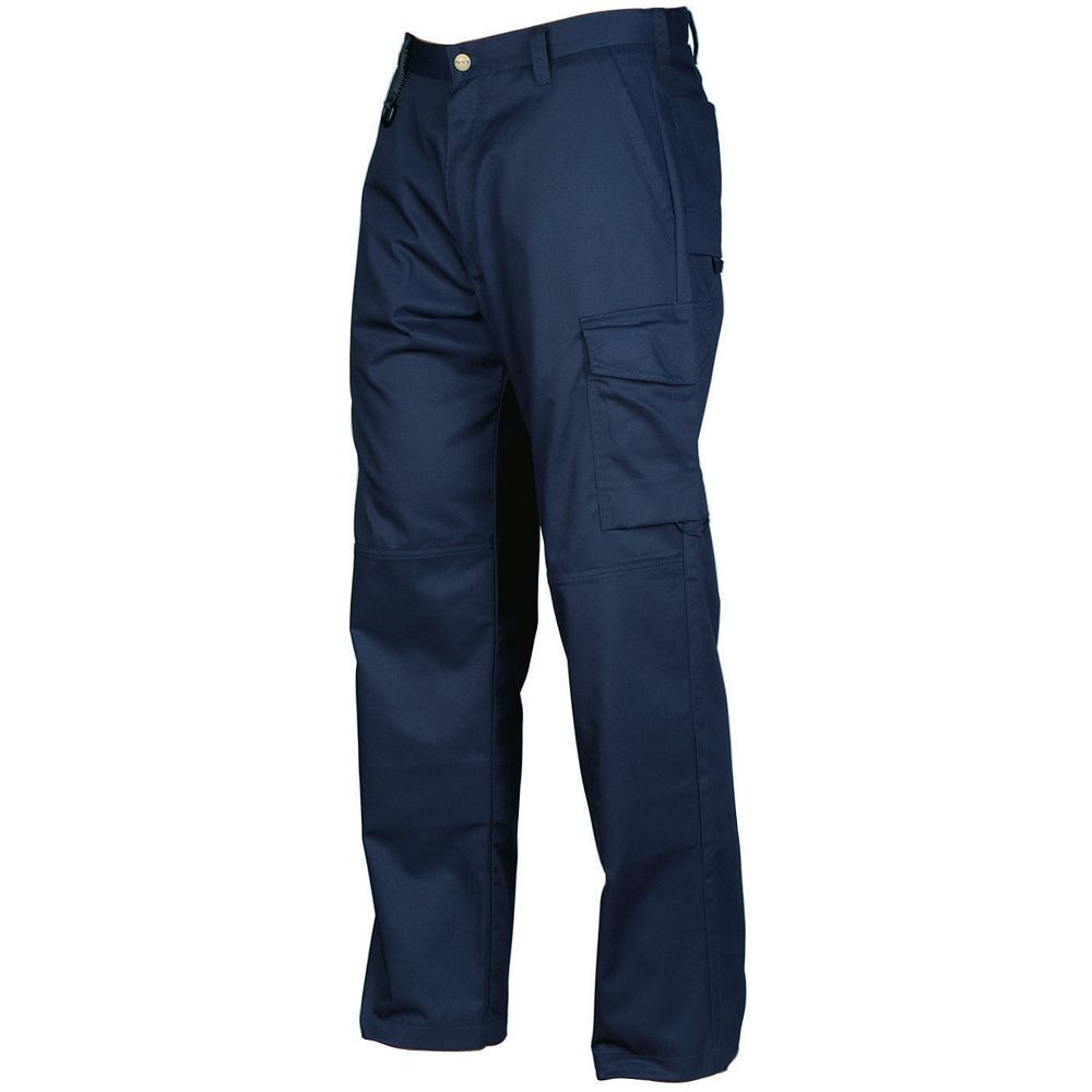 Projob Swedish Workwear Men's Mid Weight Cargo Style All Purpose Work Pants - Navy - 34X32