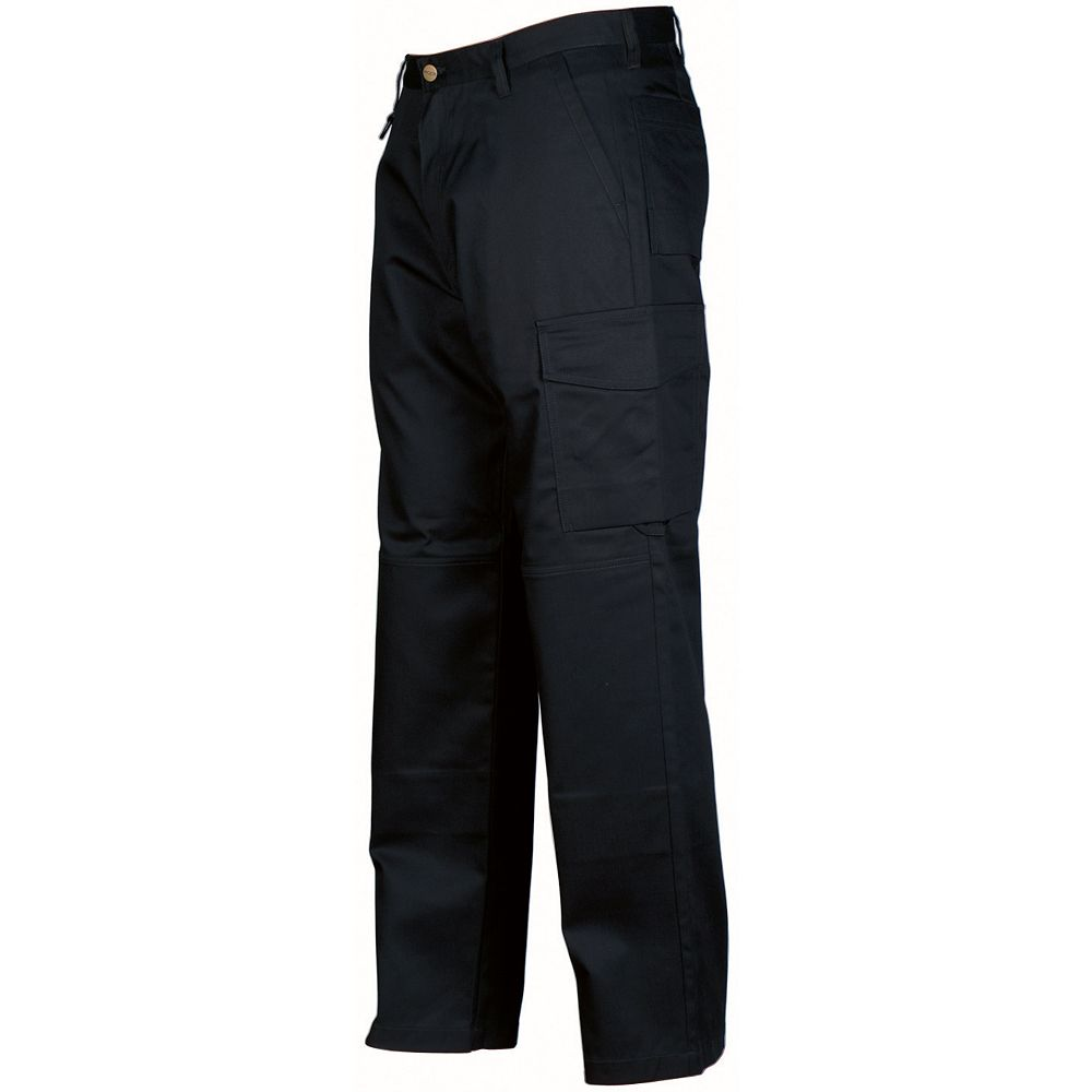Projob Swedish Workwear Men's Mid Weight Cargo Style All Purpose Work Pants - Black - 38X30