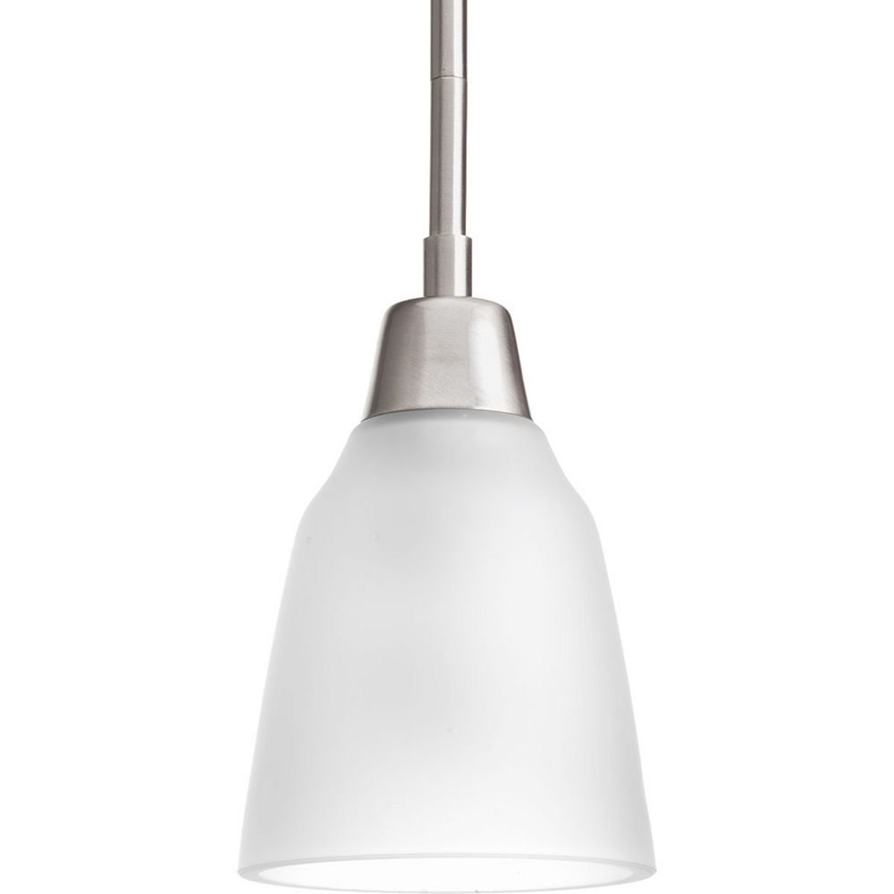 Progress Lighting Asset Collection 1-light Brushed Nickel Fluorescent Mini-Pendant