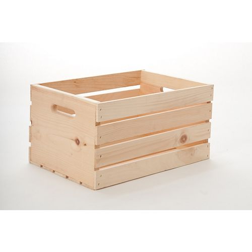 13-inch x 18-inch x 10-inch Wooden Crate