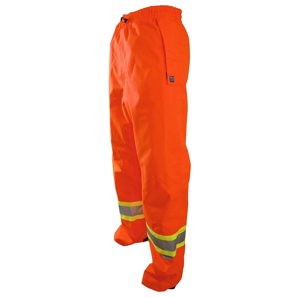Projob Swedish Workwear CSA High Visibility Wind and Waterproof Rain Pants - Orange - XXXL