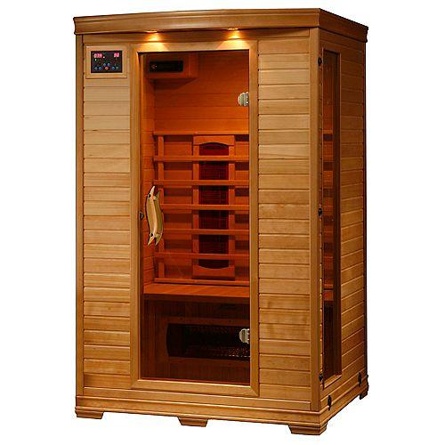 Sauna en pruche infrarouge De luxe pour 2 personnes avec 5 radiateurs en céramique