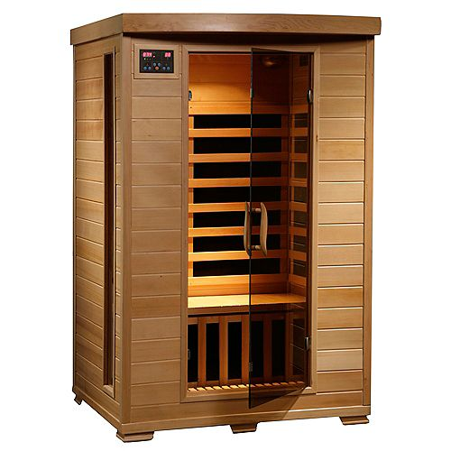 Sauna en pruche infrarouge De luxe pour 2 personnes avec 6 radiateurs en carbone