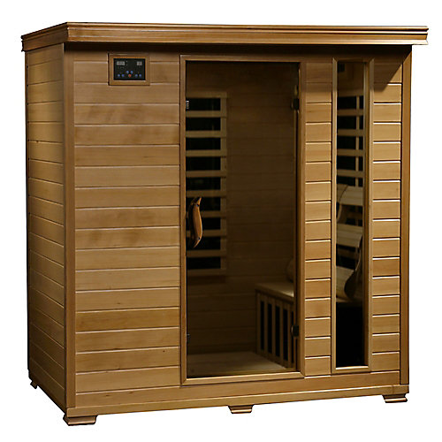 4-Person Hemlock Infrared Sauna with 9 Carbon Heaters