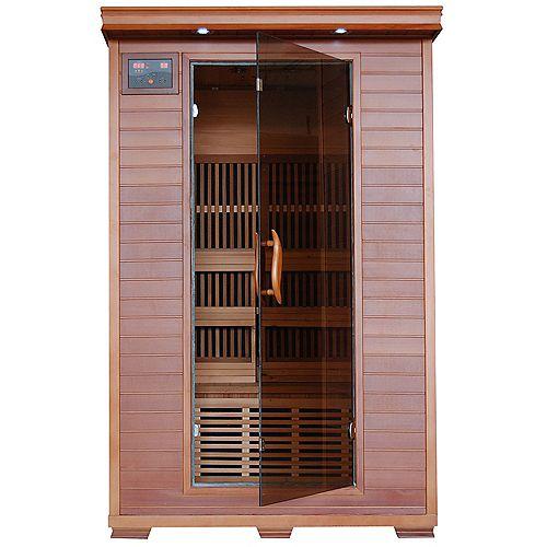 Sauna en cèdre infrarouge De luxe en cèdre pour2 personnes avec 6 radiateurs en carbone