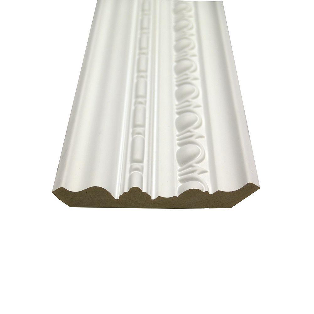 Alexandria Moulding Polyurethane Egg & Dart Crown 13/16 Inch x 5 Inch x 8 Feet