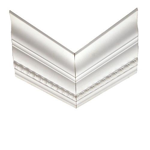 Coin d'ogée en forme de cordage torsadé réversible en polyuréthanne 15/16 po x 5 po x 12 po