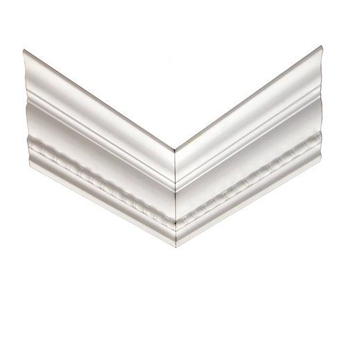 Coin d'ogée en forme de cordage torsadé réversible en polyuréthanne 11/16 po x 4-3/16 po x 12 po