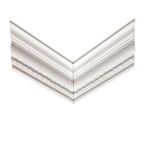 Alexandria Moulding Polyurethane Reversible Rope Crown Corner 11/16 Inch x 4-3/16 Inch x 12 Inch