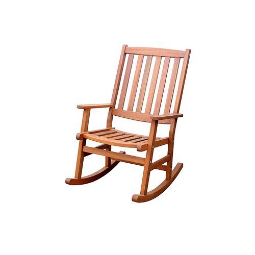 Outdoor Rocking Chair Eucalyptus Finish