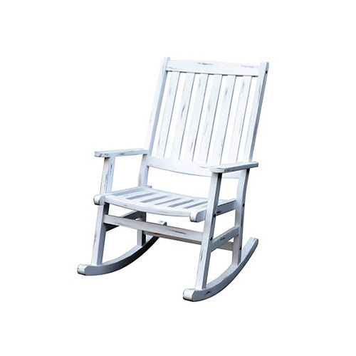 Outdoor Rocking Chair White Finish