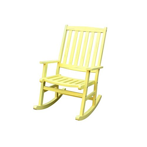Outdoor Rocking Chair Lemonade Finish