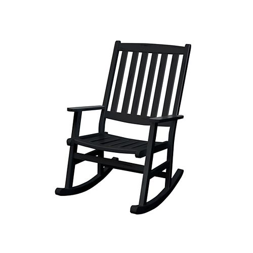 Outdoor Rocking Chair Black Finish