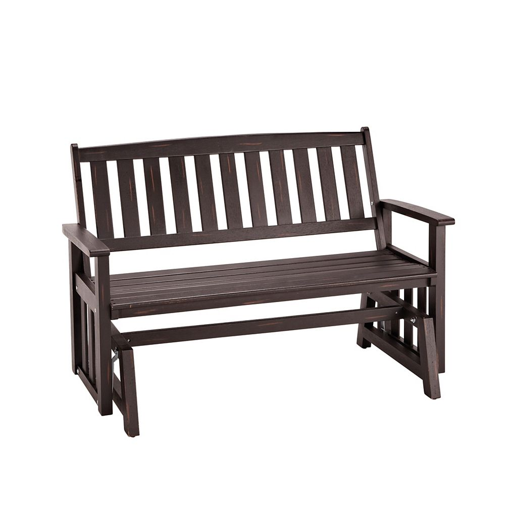 Bali Hai Outdoor Glider Bench Washed Black Finish