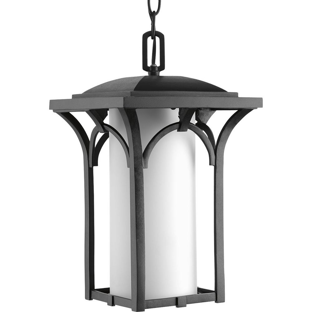Progress Lighting Fluorescente de Lanterne suspendue à 1 Lumière, Collection Promenade - fini Noir