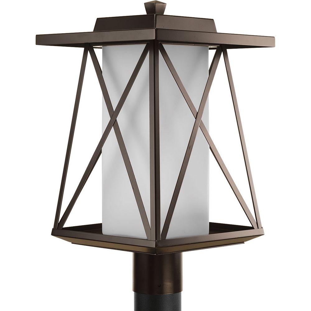 Progress Lighting Lampadaire à 1 Lumière, Collection Scope - fini Bronze à l'Ancienne