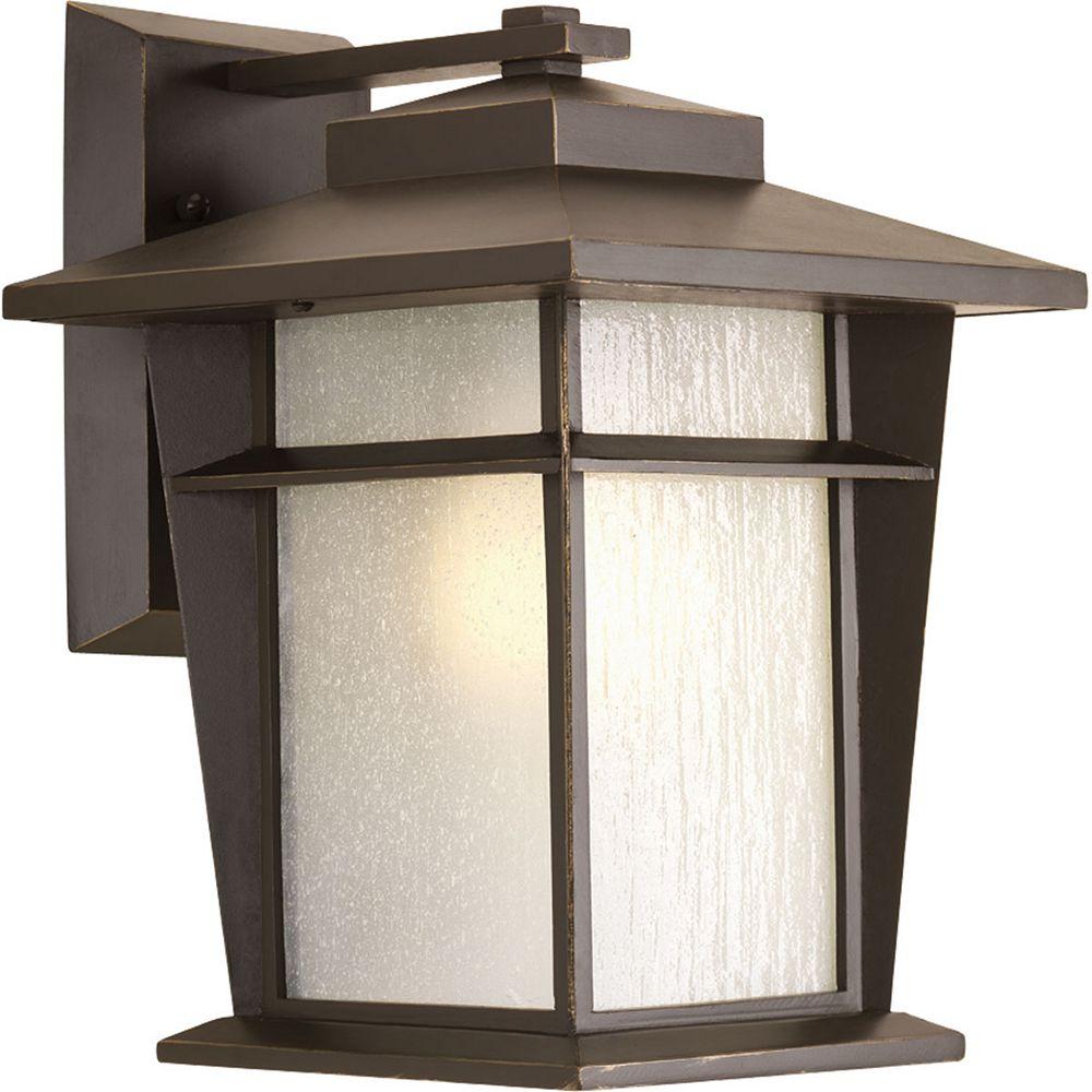 Progress Lighting Loyal Collection 1-Light Antique Bronze Wall Lantern