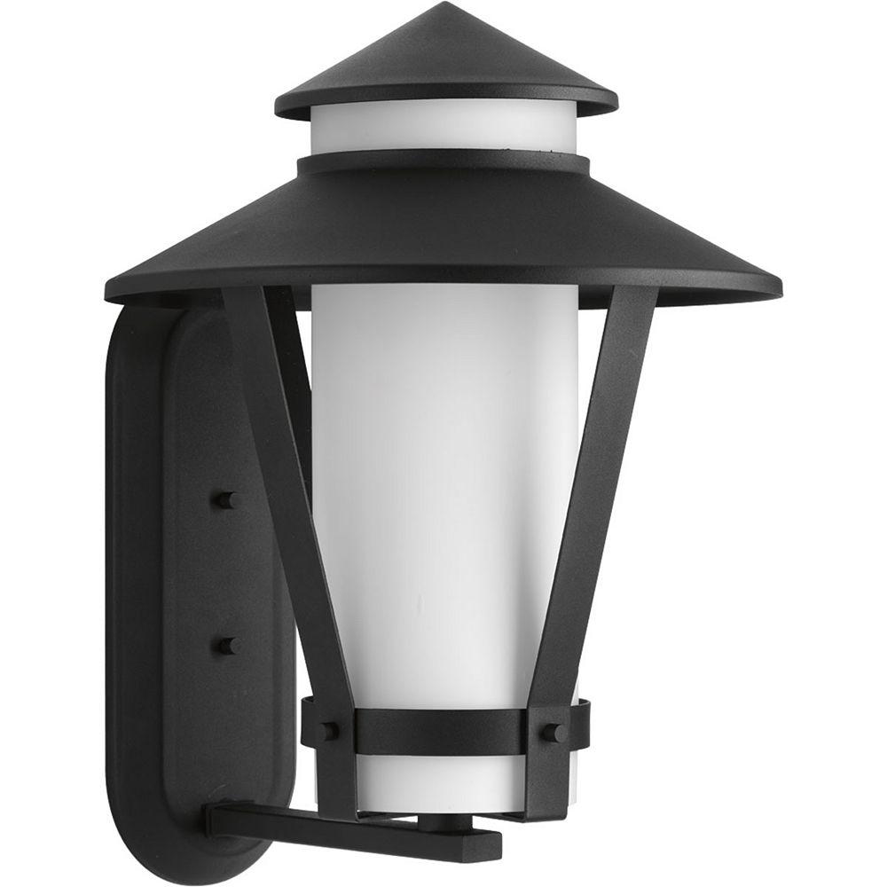 Progress Lighting Via Collection 1-Light Black Wall Lantern