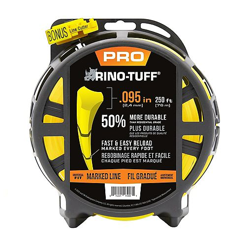 Rino-Tuff Pro Marked Line .095 in. x 250 ft. Universal Trimmer Line