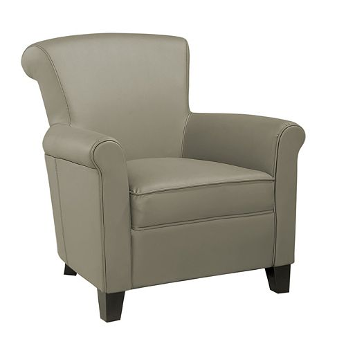 Jacob Jute Bonded Leather Club Chair