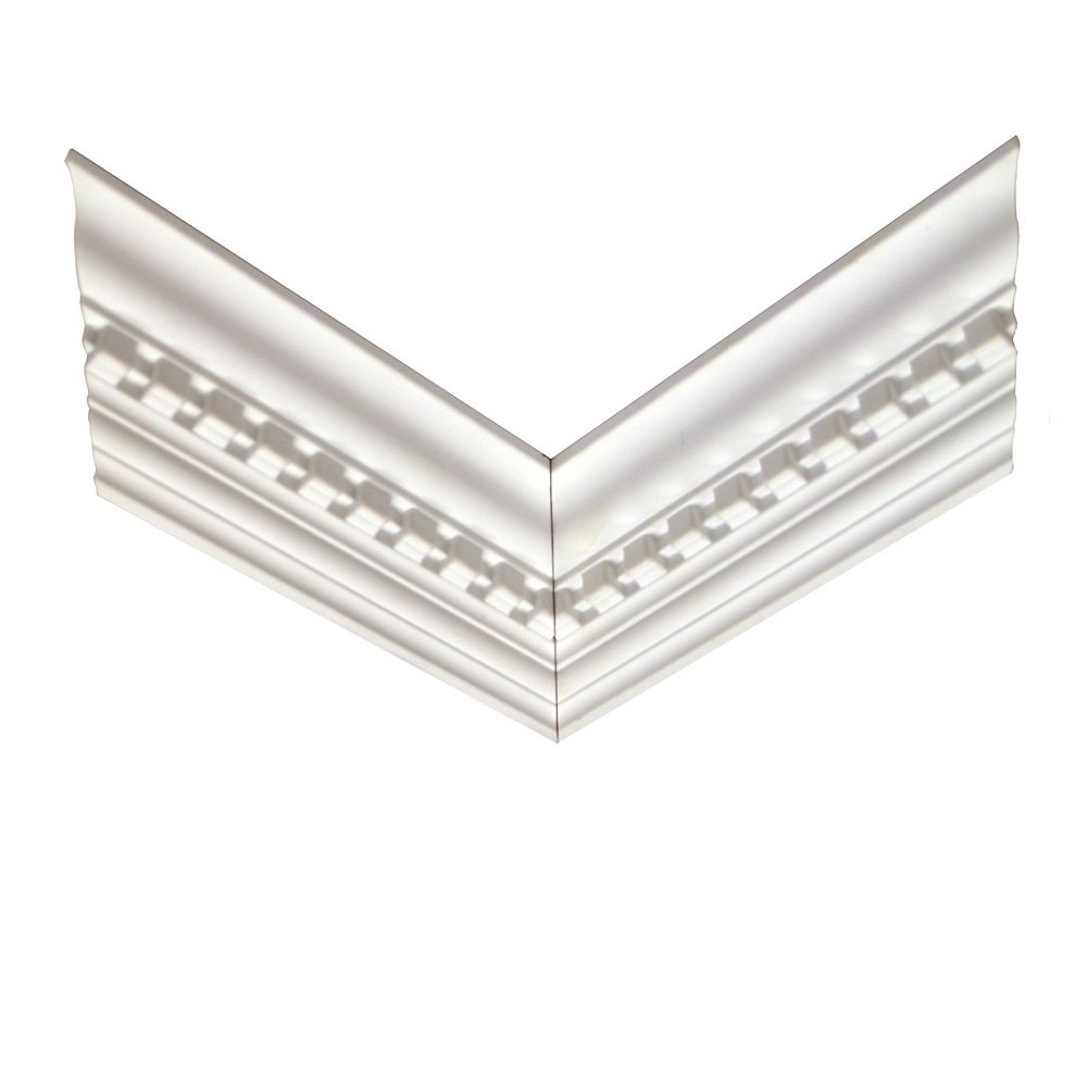 Alexandria Moulding Polyurethane Reversible Dentil Crown Corner 11/16 Inch x 3-7/8 Inch x 12 Inch