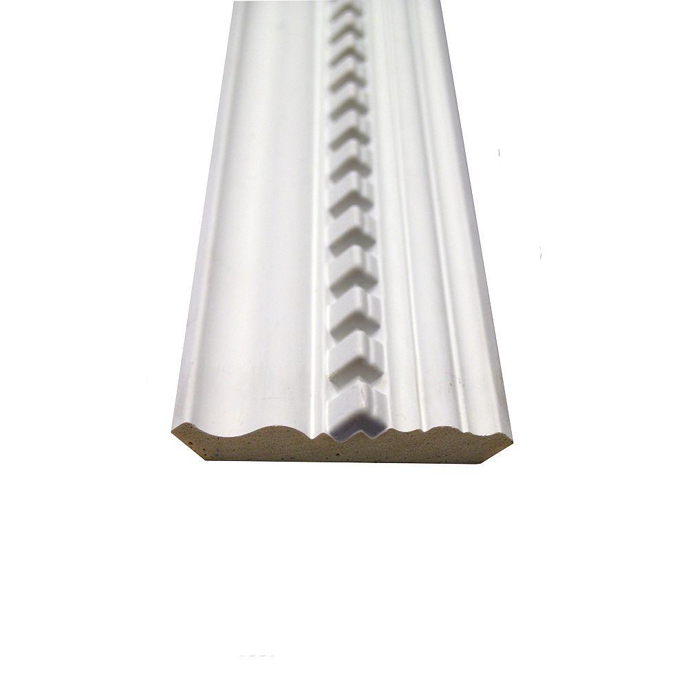 Alexandria Moulding Polyurethane Dentil Crown 11/16 Inch x 3-7/8 Inch x 8 Feet