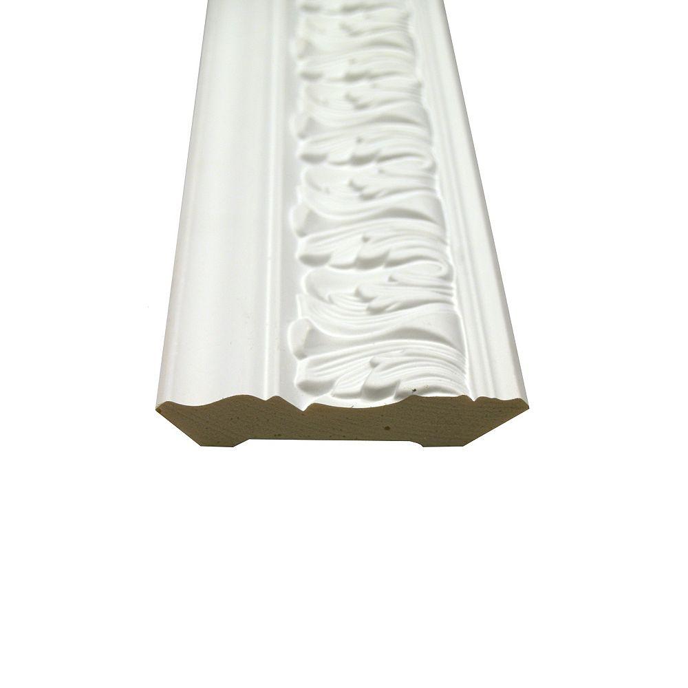 Alexandria Moulding Polyurethane Leaf Crown 3/4 Inch x 4 Inch x 8 Feet