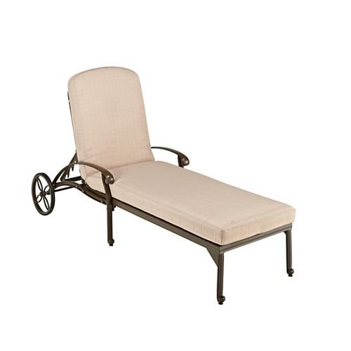 Chaise Lounge Chair in Taupe